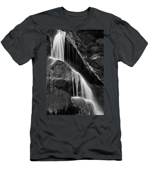 Lichtenhain Waterfall - Bw Version Men's T-Shirt (Athletic Fit)