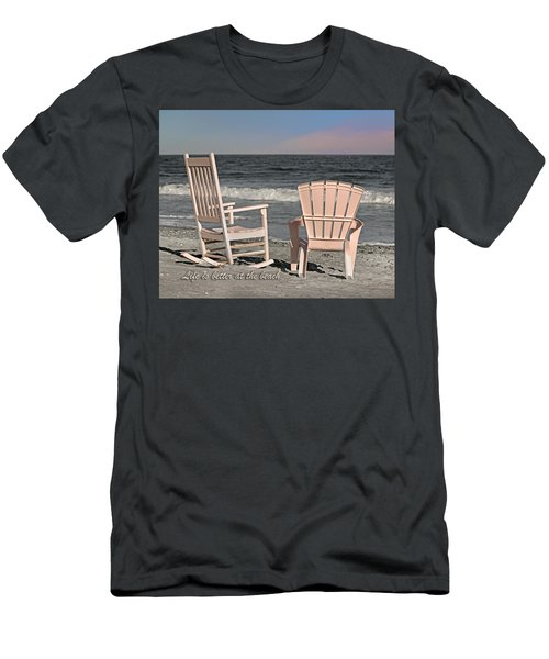 Life Is Better At The Beach Men's T-Shirt (Athletic Fit)