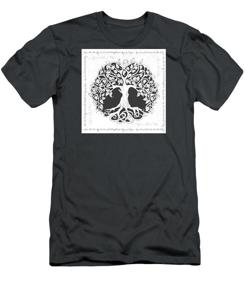 Men's T-Shirt (Slim Fit) featuring the digital art Life Tree. Life Is Like A Tree by Gina Dsgn