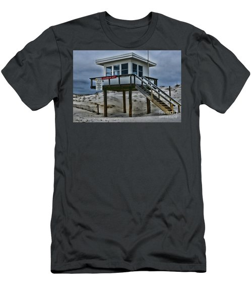 Lifeguard Station 2  Men's T-Shirt (Slim Fit) by Paul Ward