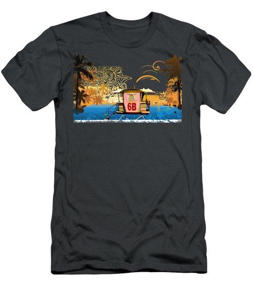 Lifeguard Station 6b Men's T-Shirt (Slim Fit) by Paulette B Wright