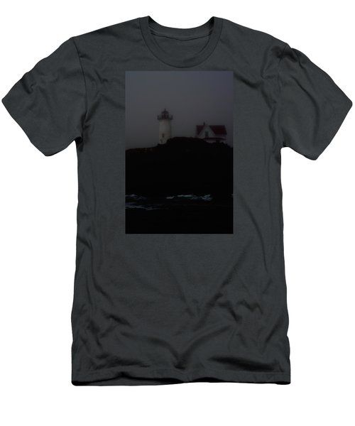 Lifting Fog Near Perkin's Cove Men's T-Shirt (Athletic Fit)