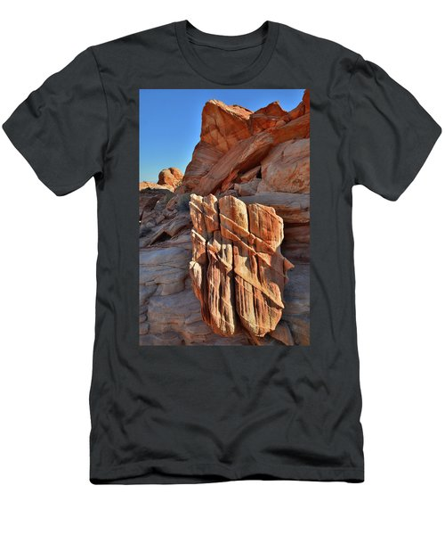 Light Creeps In At Valley Of Fire State Park Men's T-Shirt (Athletic Fit)