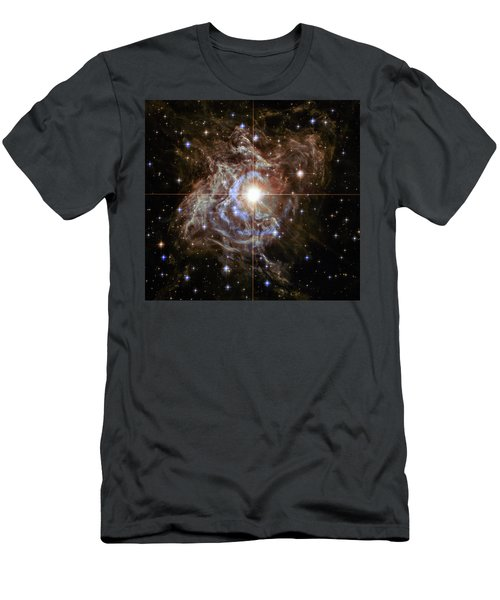 Men's T-Shirt (Slim Fit) featuring the photograph Light Echoes by Marco Oliveira