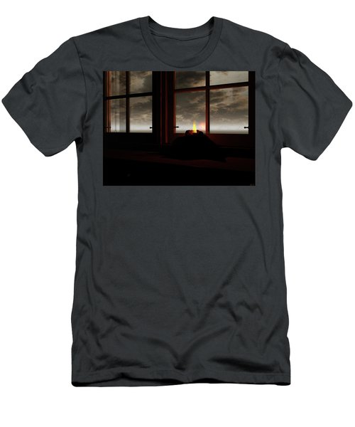 Light In The Window Men's T-Shirt (Slim Fit) by Michele Wilson