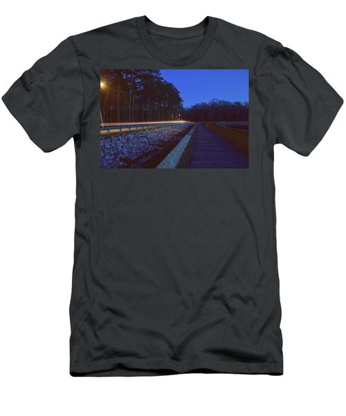 Light Trails On Elbow Road Men's T-Shirt (Athletic Fit)