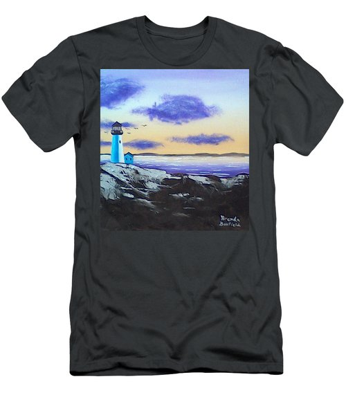 Lighthouse Men's T-Shirt (Slim Fit) by Brenda Bonfield