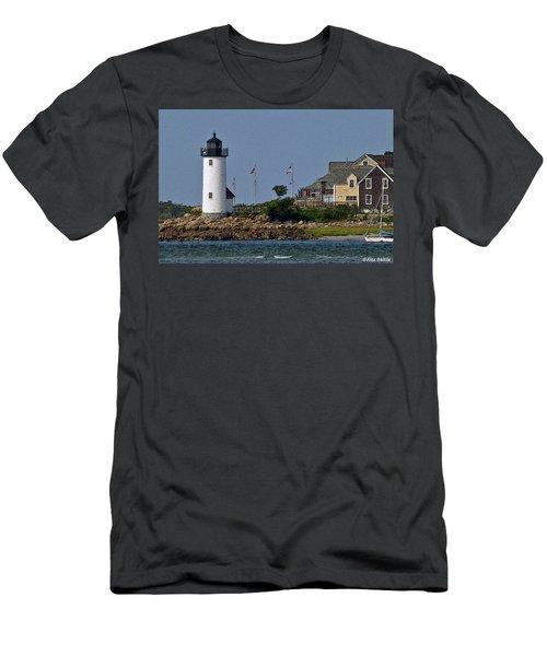 Lighthouse In The Ipswich Bay Men's T-Shirt (Slim Fit) by Alex Galkin