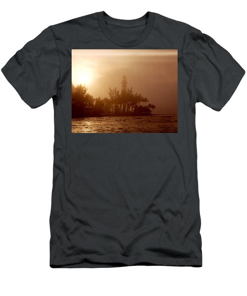 Lighthouse Point Sunrise Men's T-Shirt (Athletic Fit)