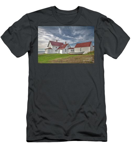 Keepers House At The Monheagn Lighthouse Men's T-Shirt (Athletic Fit)
