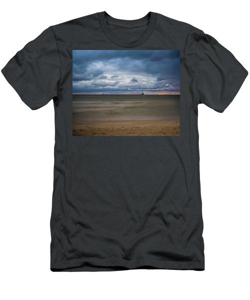 Lighthouse Under Brewing Clouds Men's T-Shirt (Athletic Fit)