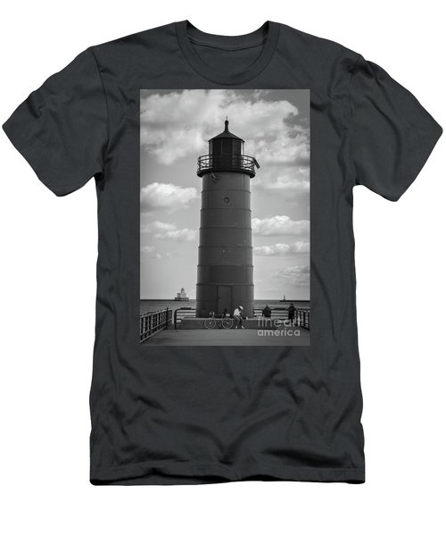 Lighthouses Of Milwaukee Men's T-Shirt (Athletic Fit)