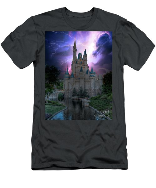 Lighting Over The Castle Men's T-Shirt (Athletic Fit)