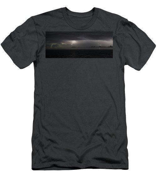 Lightning At Sea II Men's T-Shirt (Athletic Fit)
