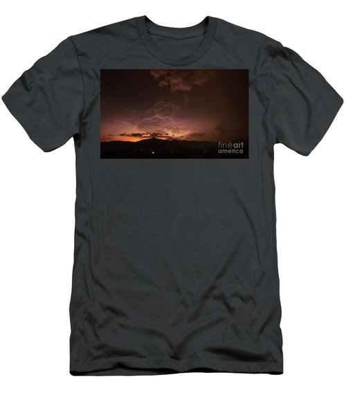 Lightning Streaks  Men's T-Shirt (Athletic Fit)