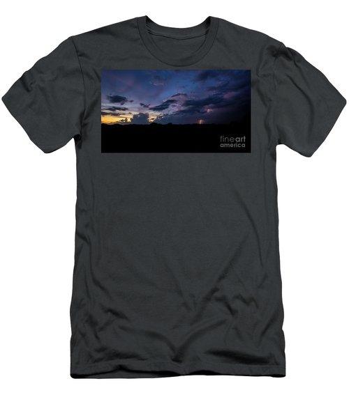 Men's T-Shirt (Slim Fit) featuring the photograph Lightning Sunset by Brian Jones