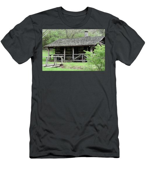 Lil Cabin Home On The Hill  Men's T-Shirt (Athletic Fit)