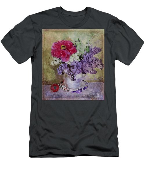 Lilac Bouquet Men's T-Shirt (Slim Fit) by Alexis Rotella