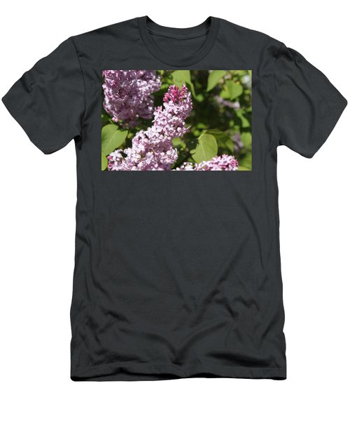 Men's T-Shirt (Slim Fit) featuring the photograph Lilacs 5552 by Antonio Romero