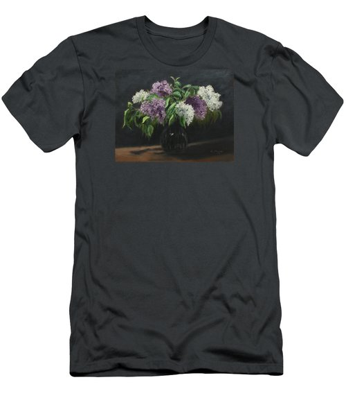 Lilacs Men's T-Shirt (Slim Fit) by Alan Mager