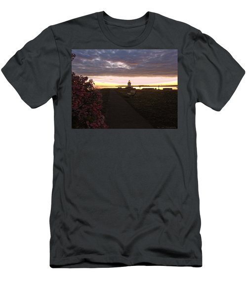 Lilacs At Portland Breakwater Light Men's T-Shirt (Athletic Fit)