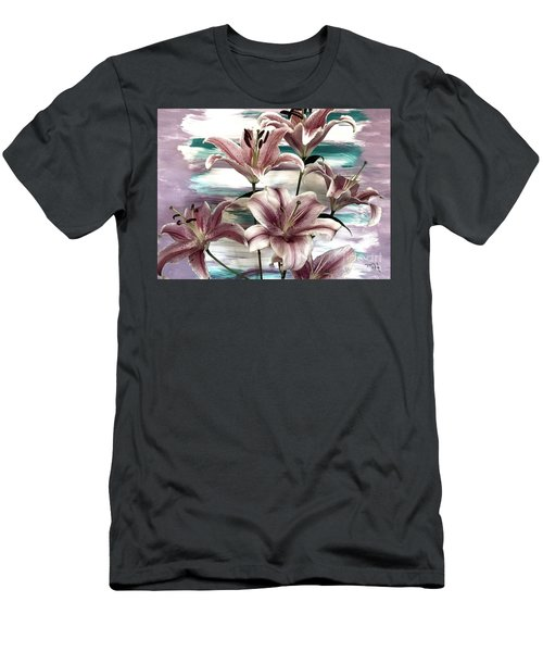 Lilies That Soothe Me Men's T-Shirt (Athletic Fit)