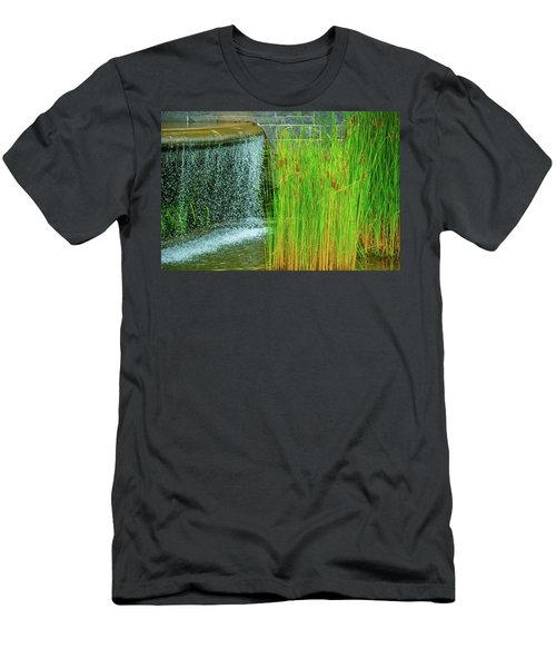 Lilly Pond In Battery Park Men's T-Shirt (Athletic Fit)