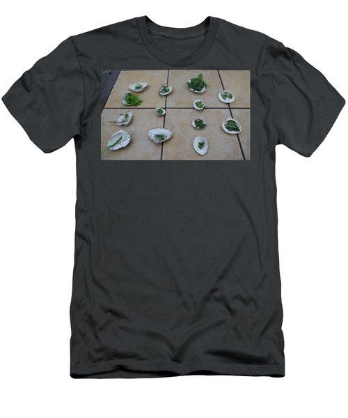 Lilly's Herb Seashore Seashells Men's T-Shirt (Slim Fit) by Greg Graham