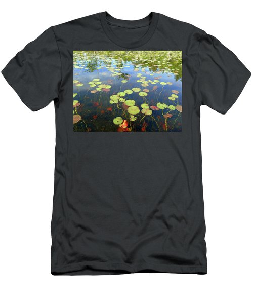 Lily Pads And Reflections Men's T-Shirt (Slim Fit) by Susan Lafleur