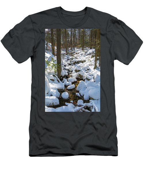 Lily Pads Of Snow Men's T-Shirt (Athletic Fit)