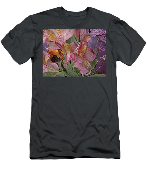 Lily Profusion 7 Men's T-Shirt (Slim Fit) by Lynda Lehmann