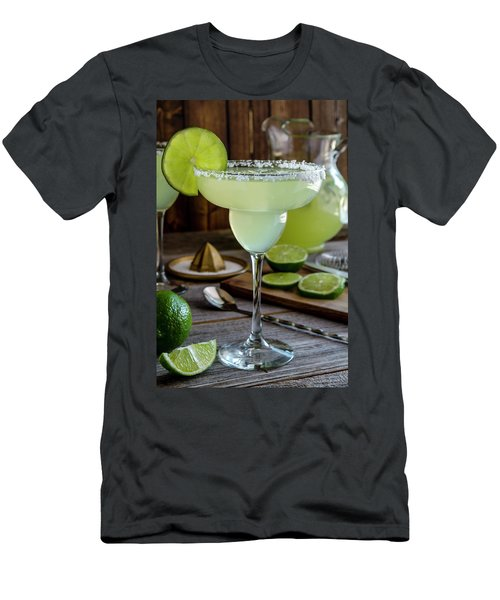 Men's T-Shirt (Slim Fit) featuring the photograph Lime Margaritas by Teri Virbickis