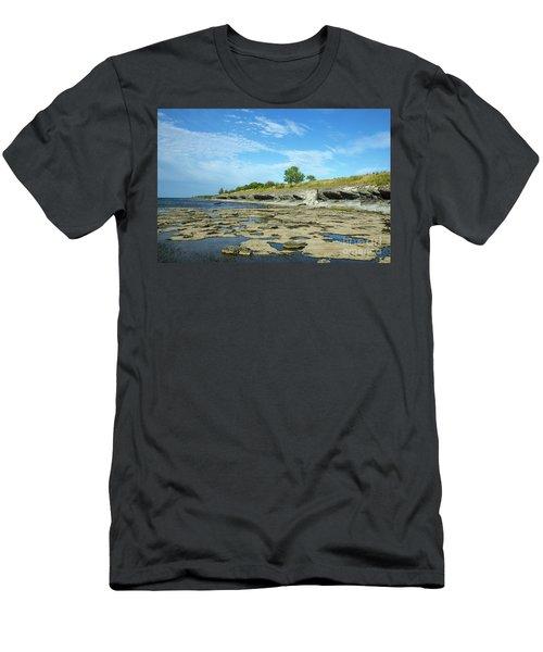 Men's T-Shirt (Athletic Fit) featuring the photograph Limestone Coast Patterns by Kennerth and Birgitta Kullman