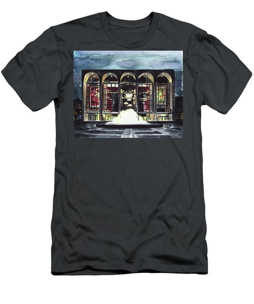 Lincoln Center Met Opera Fountain New York City Ballet Nyc Dusk Men's T-Shirt (Athletic Fit)