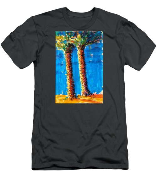 Lincoln Rd Date Palms Men's T-Shirt (Athletic Fit)