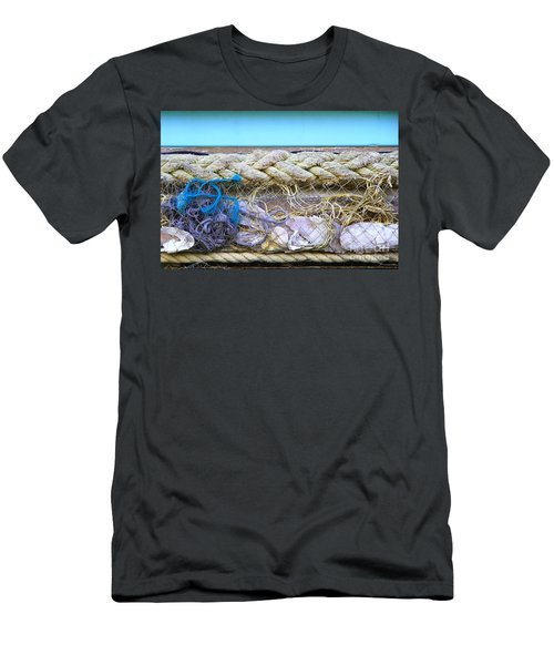Men's T-Shirt (Slim Fit) featuring the photograph Line Of Debris II by Stephen Mitchell
