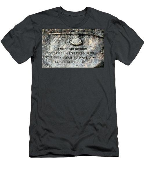 Line Of The Minutemen  1775 Men's T-Shirt (Athletic Fit)