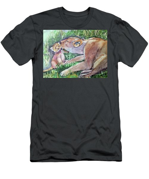 Lion And Cub Men's T-Shirt (Athletic Fit)