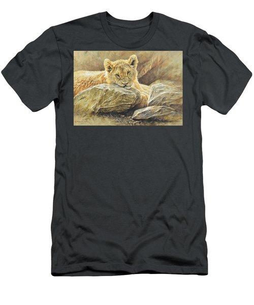 Lion Cub Study Men's T-Shirt (Athletic Fit)