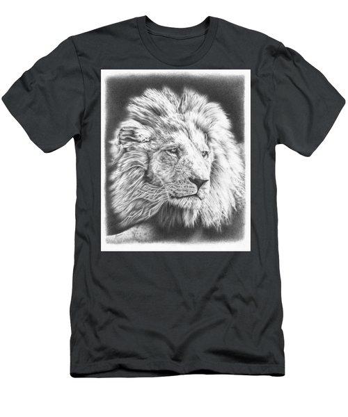 Fluffy Lion Men's T-Shirt (Athletic Fit)