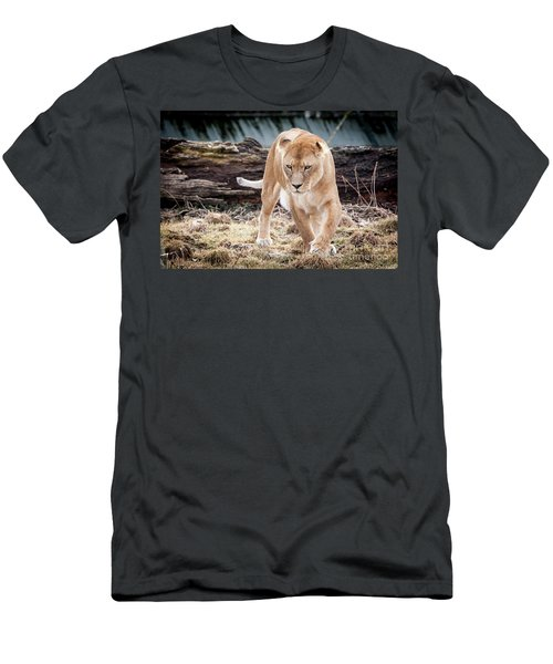 Men's T-Shirt (Athletic Fit) featuring the photograph Lion Eyes by John Wadleigh
