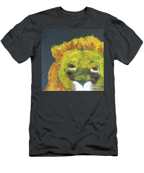 Men's T-Shirt (Athletic Fit) featuring the painting Lion Family Part 1 by Donald J Ryker III