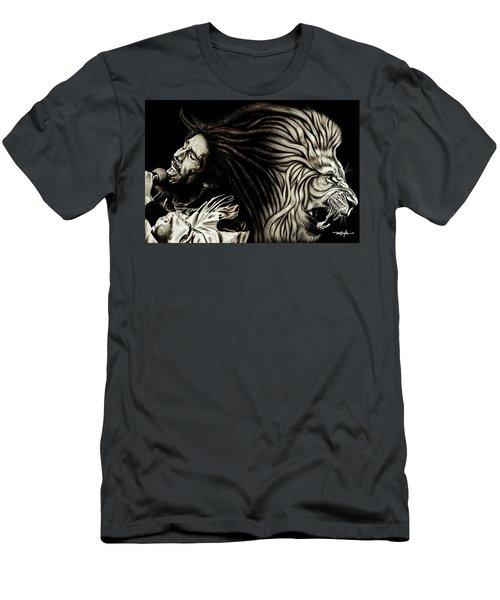 Lion Heart -bob Marley Men's T-Shirt (Athletic Fit)