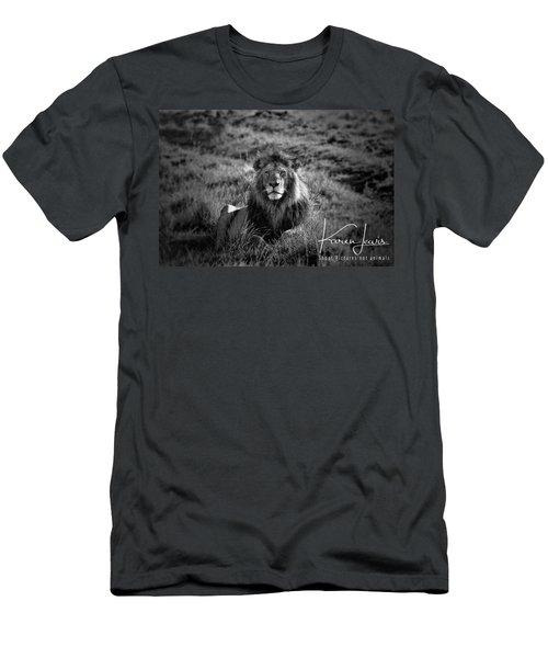 Men's T-Shirt (Slim Fit) featuring the photograph Lion King by Karen Lewis