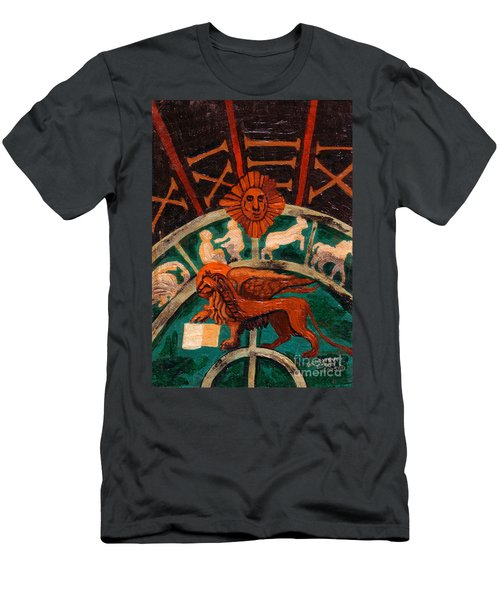 Men's T-Shirt (Slim Fit) featuring the painting Lion Of St. Mark by Genevieve Esson