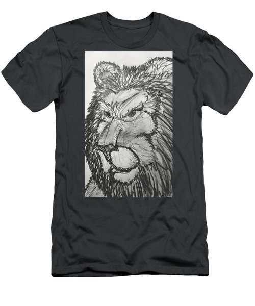 Lion Sketch  Men's T-Shirt (Athletic Fit)