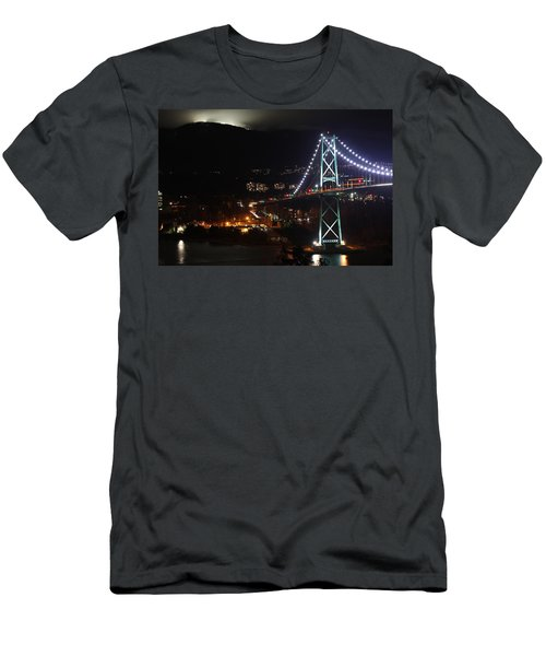 Lions Gate Bridge And Grouse Mountain Men's T-Shirt (Athletic Fit)
