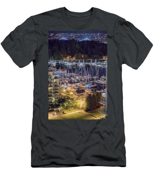 Lions Gate Bridge And Stanley Park Men's T-Shirt (Slim Fit) by Ross G Strachan