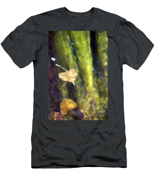 Liquid Leaves 1 Men's T-Shirt (Slim Fit) by Alycia Christine