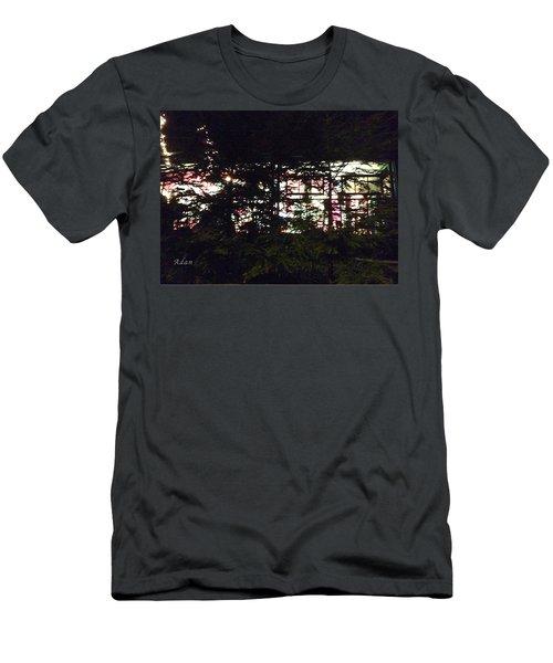 Lit Like Stained Glass Men's T-Shirt (Slim Fit) by Felipe Adan Lerma